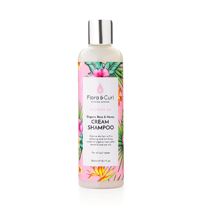 Champú hidratante ORGANIC ROSE & HONEY CREAM SHAMPOO de FLORA & CURL en Beths