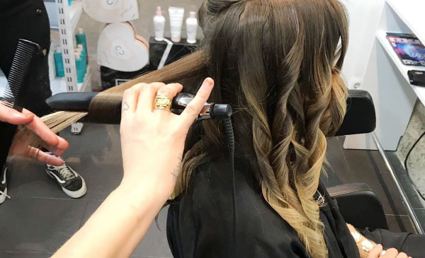 Peinado ghd ondas peluqueria Beths Barcelona