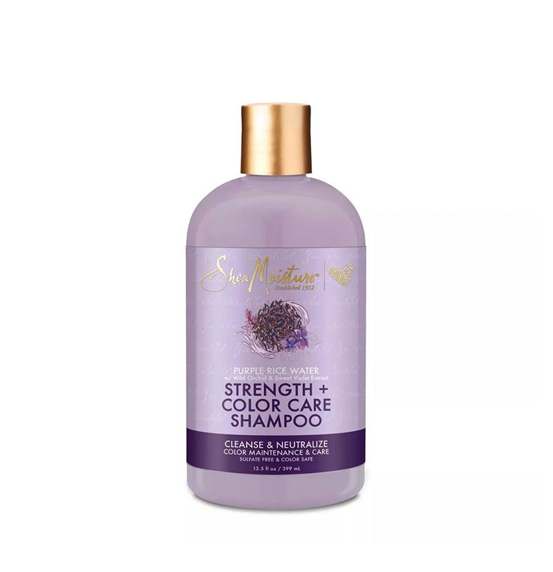 Champú matizador Purple Rice Water Strength & Color Care de Shea Moisture - Beth´s Hair