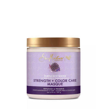 Mascarilla matizadora Purple Rice Water Strength & Color Care de Shea Moisture - Beth´s Hair