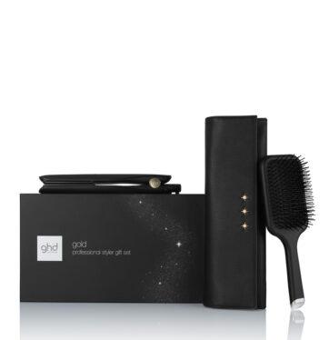 Plancha de pelo GHD Gold Styler gift Set xmas 2020 con cepillo paddle y neceser