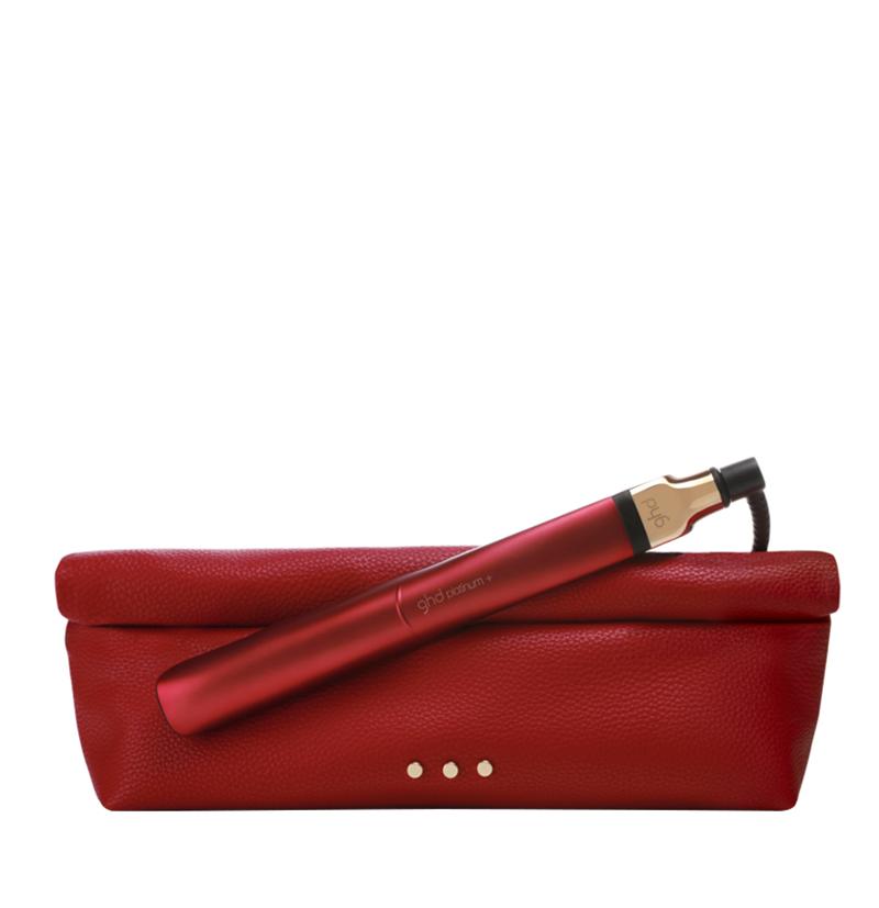 Plancha de pelo GHD Platinum+ Styler edición limitada Deep Scarlet roja con neceser