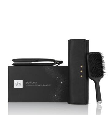 Plancha de pelo GHD Platinum+ Styler gift Set xmas 2020 con cepillo paddle y neceser