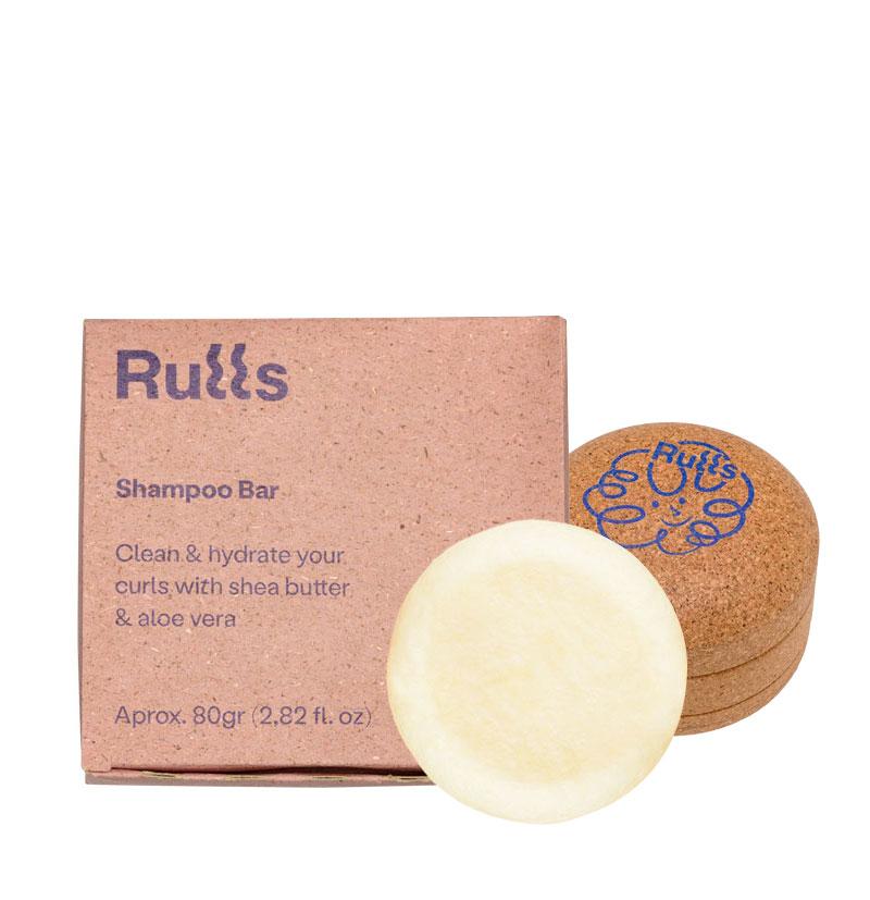 Pack Champú sólido hidratante para rizos + Jabonera de corcho de RULLS
