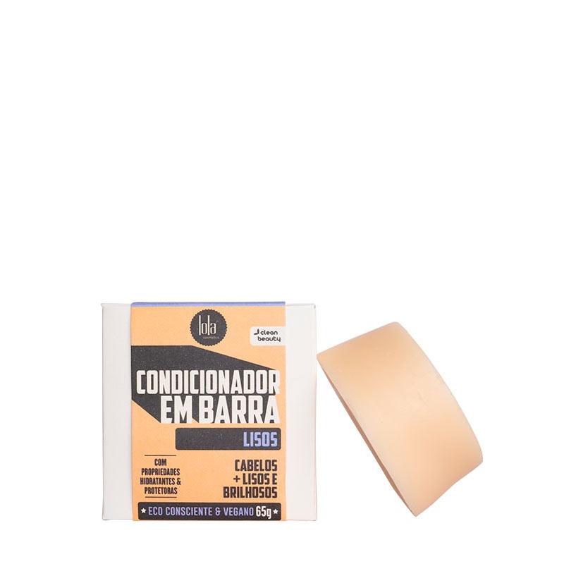 Acondicionador sólido para cabello liso LINHA EM BARRA LISOS de LOLA COSMETICS