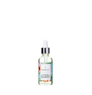 Aceite Pre-Champú calmante Soothe Me COCONUT MINT SCALP REFRESH PRE-SHAMPOO OIL de FLORA & CURL