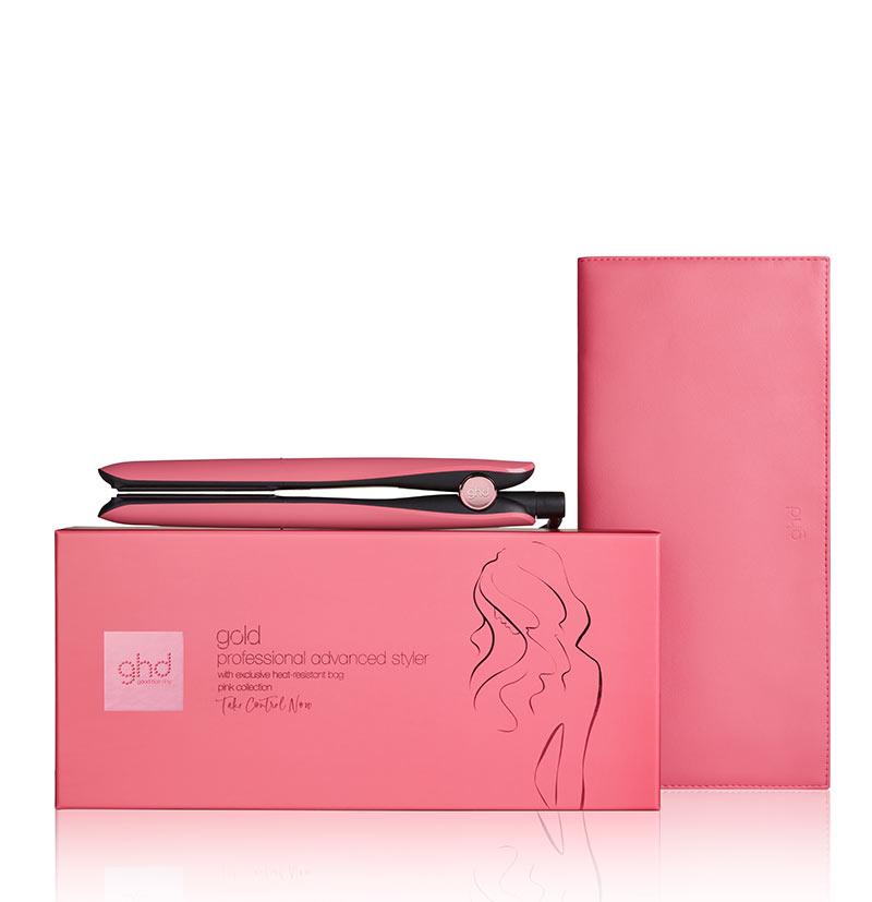 Plancha de pelo GHD Gold Styler Rosa Solidaria Pink Take Control Now