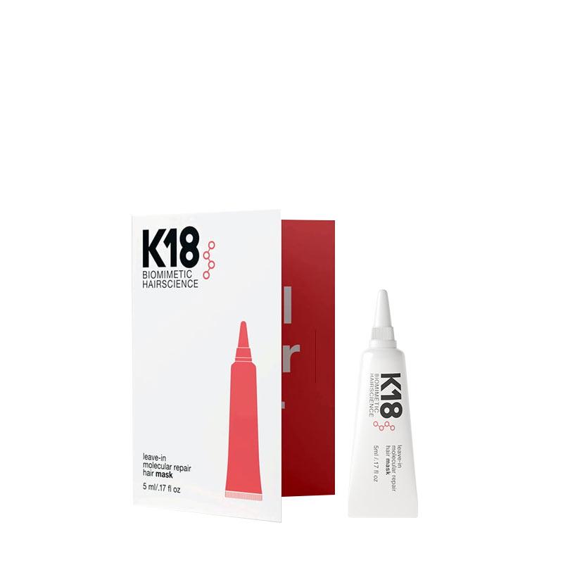 K18 Mascarilla molecular Leave-in sin aclarado de Reparación REPAIR MASK 5ml