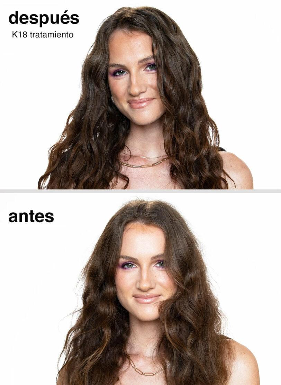 K18 Resultados antes y después en tratamiento beths hair