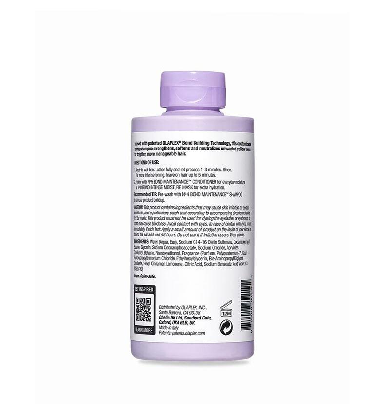 OLAPLEX Nº 4P CHAMPÚ MATIZADOR ANTI-AMARILLOS Ingredientes INCI